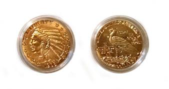 Indian Head $5 Gold Replica Coin