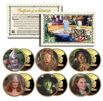 The Wizard of Oz Kansas State Quarter 6 Coin Set