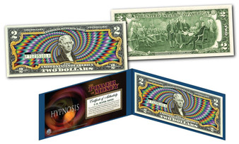 "Hypnosis ""Color"" Colorized $2 Bill"