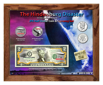 "The Hindenburg Disaster Colorized Coin & Currency Set in 8"" x 10"" Frame"