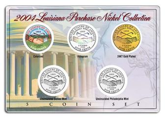 2004 Louisiana Purchase Nickel Westward Journey 5 Coin Set