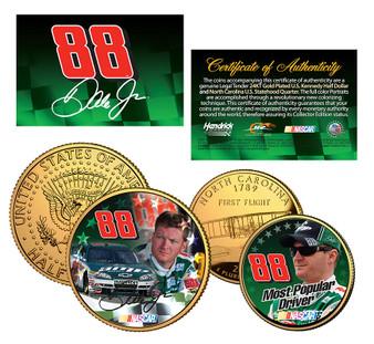 Dale Earnhardt Jr. Most Popular Driver 2 Coin Set