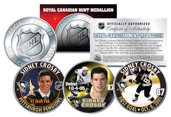 2005-2006 Sidney Crosby Royal Canadian Mint 3 Coin Set