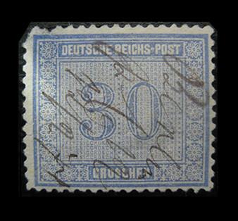 1872 #13 Regular Issue 30 Groschen Hand Cancelled #2