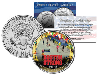 Boston Strong Colorized JFK Half Dollar