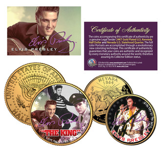 Elvis The King - 2 Coin Set