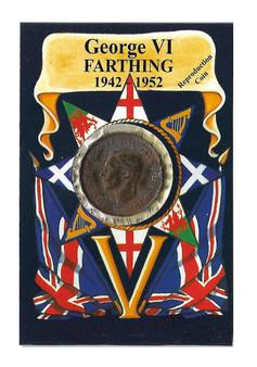 George VI 1942-1952 Farthing Replica Coin