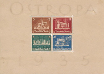 """1935 #576-579 Block 3 """"Ostropa"""" Eastern Europe Stamp Exhibition MNH"""
