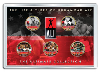 Muhammad Ali Life & Times 5 Coin Set in Acrylic Holder