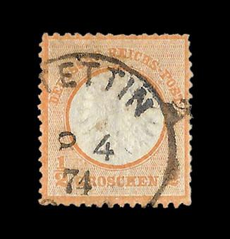 1872 #14 Regular Issue 1/2 Groschen Cancelled