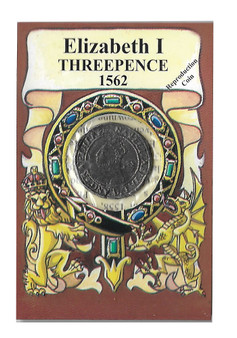 Elizabeth I 1562 Three Pence Replica Coin