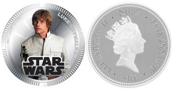 Luke Skywalker Star Wars Coins 2011 Silver Plated Proof Coin