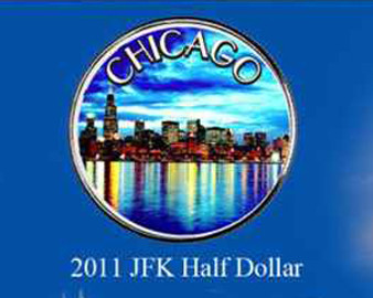 Chicago Colorized JFK Half Dollar