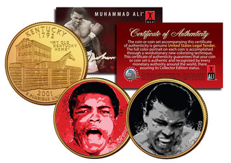 Muhammad Ali 2 Coin Set Petruccio Art Liston Fight
