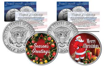 Merry Christmas & Season's Greetings 2 Coin Set