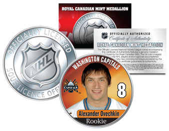 Alexander Ovechkin #8 2005 NHL Royal Canadian Mint Coin