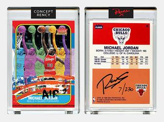 "Rency Art Jordan 1996 Fleer Rookie Card ""Multi-Image"" Signed Limited Edition of 230"