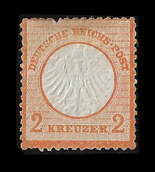 1872 #15 Regular Issue 2 Kreuzer MH #1