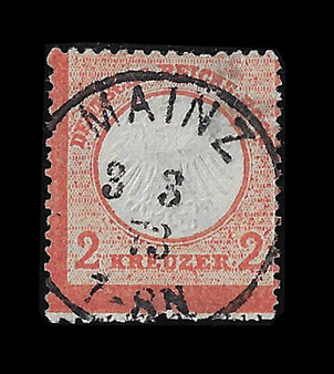 1872 #8 Small Shield 2 Kreuzer Cancelled