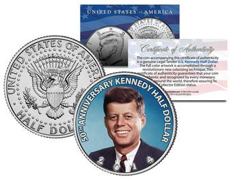 John F. Kennedy 2014 50th Anniversary JFK Half Dollar