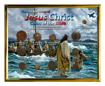 "Jesus Christ ""Walking On Water"" Historical Replica Set in 8"" x 10"" Frame"