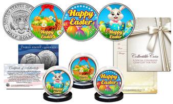 Happy Easter Holiday JFK Half Dollar 3 Coin Set