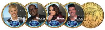 American Idol Judges 2009 JFK Half Dollar 4 Coin Set