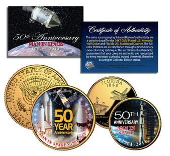 50 Years In Space Commemorative - 2 Coin Set