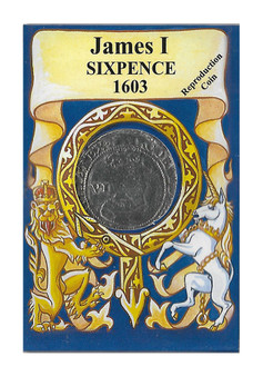 James I 1603 Six Pence Replica Coin