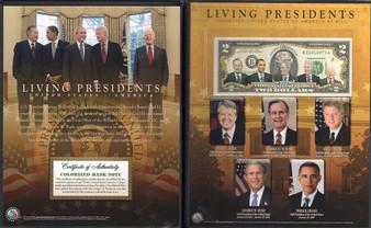Living Presidents Deluxe Commemorative $2 Bill