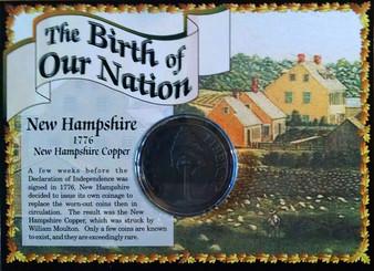 1776 New Hampshire Copper Historical Colonial Replica Coin
