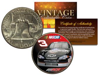 Dale Earnhardt * #3 NASCAR * Colorized 1951 Franklin Silver Half Dollar Coin