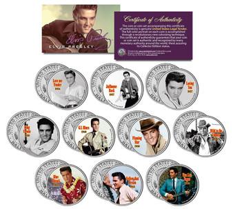 Elvis Movies JFK Half Dollar 10 Coin Set