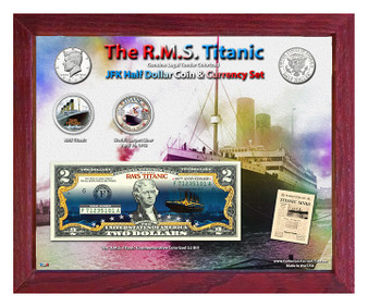"The R.M.S. Titanic ""Nighttime"" Colorized Coin & Currency Set in 8"" x 10"" Frame"