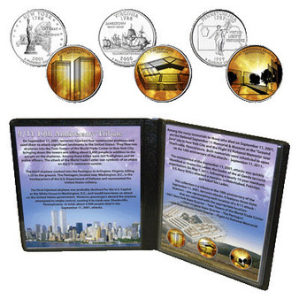 9/11 10th Anniversary Tribute 3 Coin Set