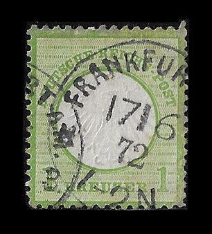 1872 #7 Small Shield 1 Kreuzer Cancelled