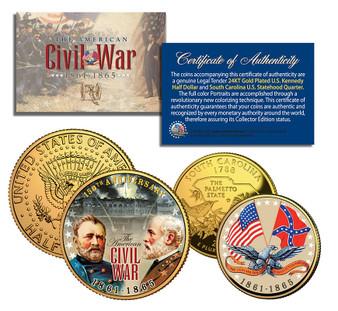Civil War 150th Anniversary Commemorative 2 Coin Set