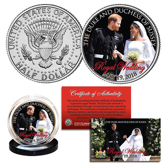Prince Harry & Meghan Markle Official Royal Wedding Look Of Love Photo Colorized JFK