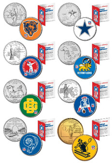 Individual NFL Teams Retro State Quarters