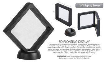 """Set of 3 3D Floating Coin Display Frames - Small - 2"""""""