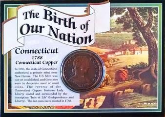 1788 Connecticut Copper Historical Colonial Replica Coin