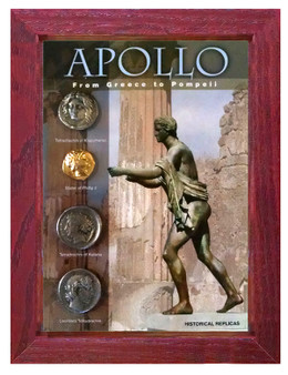 "Apollo - From Greece To Pompeii 4 Coin Set of Historical Replicas in 5"" x 7"" Frame"