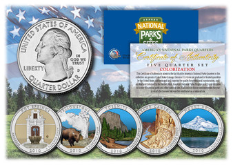 Colorized National Park Quarters 2010