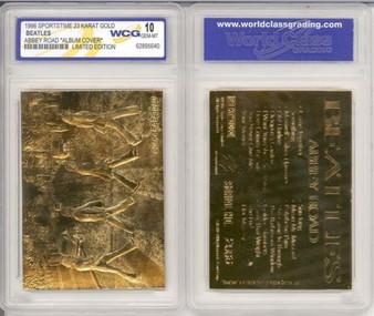 Beatles Abbey Road 23K Gold Sculptured Card Graded Gem Mint 10