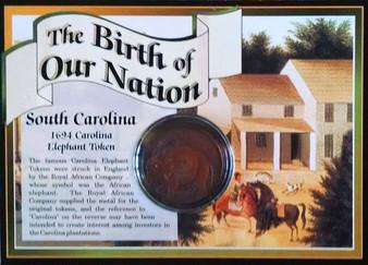 1694 South Carolina Elephant Token Historical Colonial Replica Coin