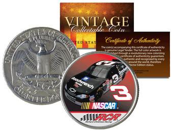 Dale Earnhardt Colorized 1951 Silver Quarter U.S. Coin * Birth Year * #3 NASCAR