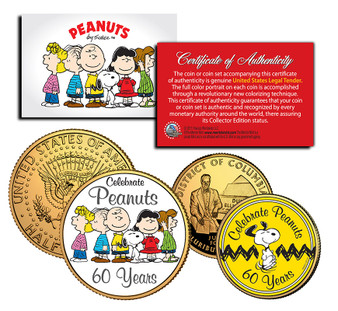 60 Years of Peanuts - 2 Coin Set