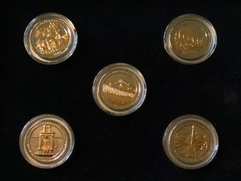 2010 National Parks 2-Tone 24K Gold Plated State Quarters
