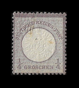 1872 #16 Large Shield 1/4 Groschen Cancelled