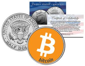 Bitcoin Colorized JFK Half Dollar